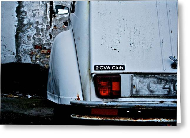 Rusted Cars Greeting Cards - Citroen 2 CV  Greeting Card by Odd Jeppesen
