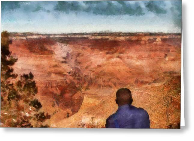 City - Arizona - Grand Canyon - The Vista Greeting Card by Mike Savad