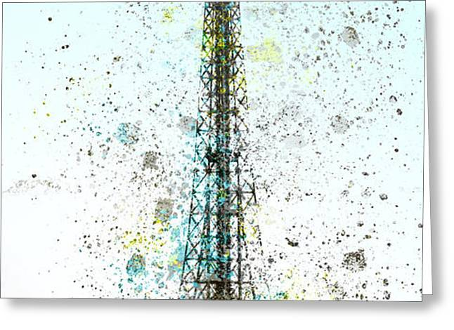 City-Art PARIS Eiffel Tower II Greeting Card by Melanie Viola