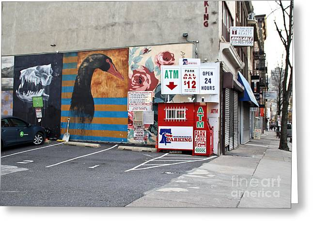 City Murals Greeting Cards - City Corner Greeting Card by Extrospection Art