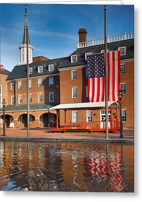 Architecture Metal Prints Greeting Cards - City Hall and Reflection I Greeting Card by Steven Ainsworth