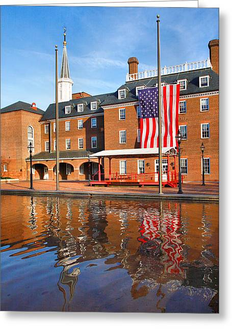 City Hall And Reflections II Greeting Card by Steven Ainsworth
