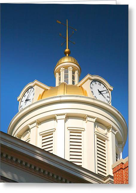 Indiana Photography Greeting Cards - City Hall Dome I Greeting Card by Steven Ainsworth