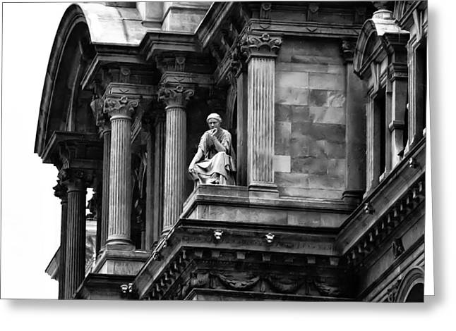 City Hall Digital Art Greeting Cards - City Hall Edifice - Philadelphia Greeting Card by Bill Cannon