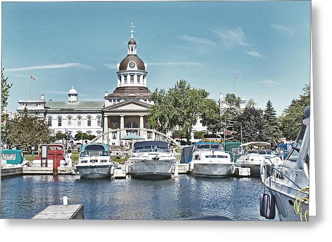 Kingston City Hall Greeting Cards - City Hall Kingston Ontario Canada Greeting Card by Peggy Holcroft
