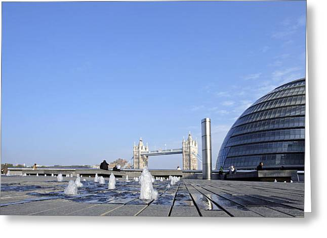 City Hall Greeting Cards - City Hall, Southwark, London, Uk Greeting Card by Carlos Dominguez