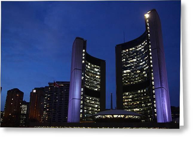 City Hall Greeting Cards - City Hall Toronto Greeting Card by Snow White