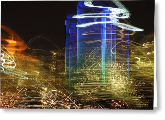 City Lights Greeting Cards - City Lights Greeting Card by Carolyn Marcotte