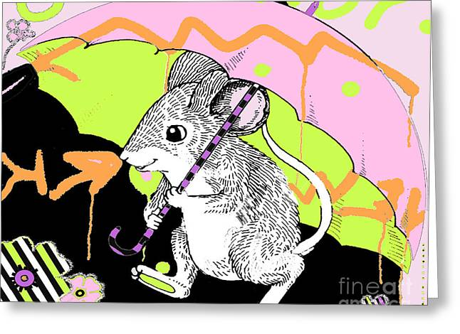 City Mouse Baby Licensing Art Greeting Card by Anahi DeCanio