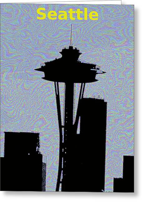 Urban Space Greeting Cards - City Needle 2 Greeting Card by Tim Allen