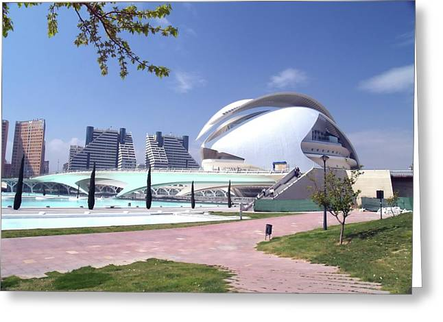 City Art Greeting Cards - City of Arts and Sciences Greeting Card by Jim DeLillo
