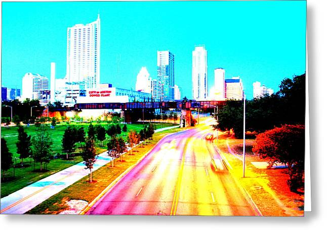 Austin Powers Greeting Cards - City of Austin from the walk bridge Greeting Card by James Granberry