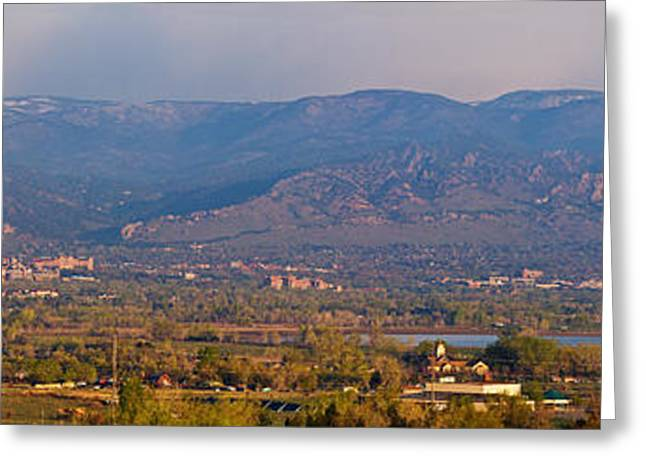 Colorado Artwork Greeting Cards - City Of Boulder Colorado Panorama View Greeting Card by James BO  Insogna