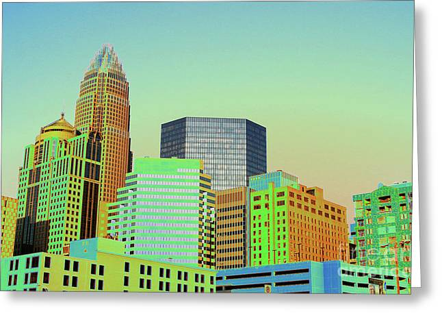 Charlotte Greeting Cards - City of Colors Greeting Card by Karol  Livote