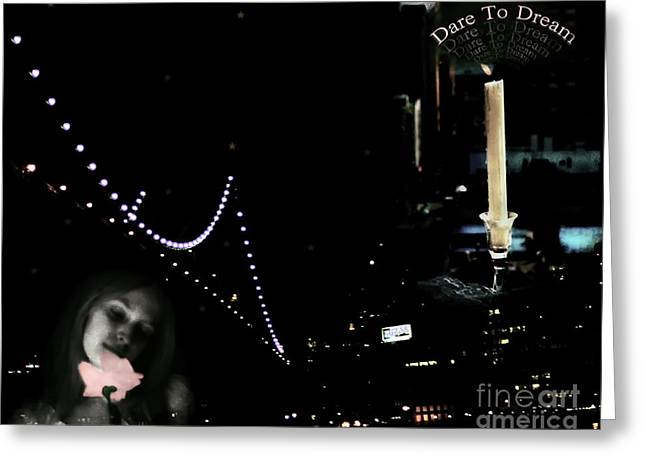 City Lights Greeting Cards - City Of Dreams Greeting Card by Madeline Ellis
