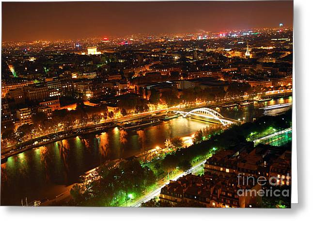 Aerial Greeting Cards - City of Light Greeting Card by Elena Elisseeva