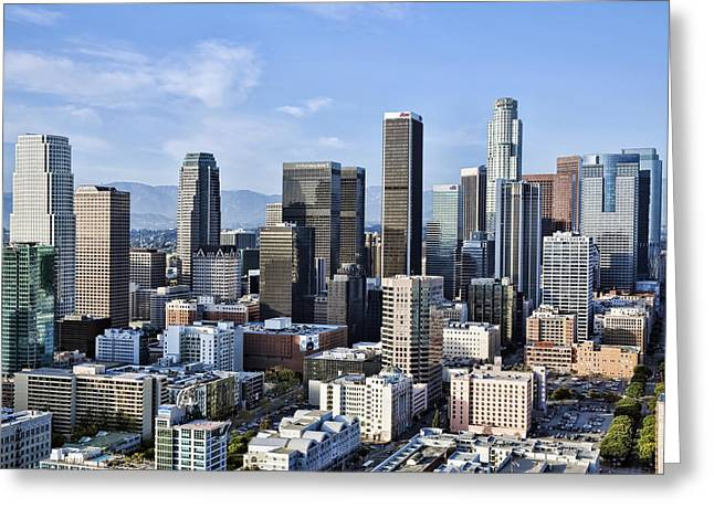 City of Los Angeles Greeting Card by Kelley King