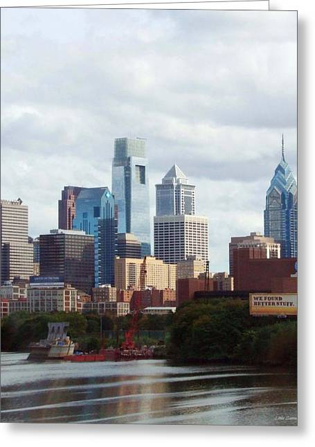 Philadelphia Greeting Cards - City of Philadelphia Greeting Card by Linda Sannuti