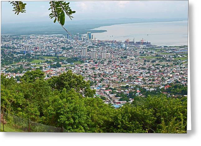 City Scapes Greeting Cards Greeting Cards - City of Port of Spain Trinidad 3 Greeting Card by Karin Kelshall- Best