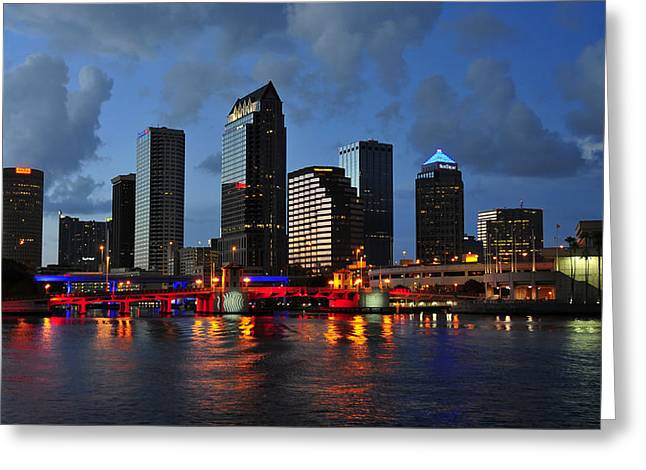 Convention Greeting Cards - City of Red White and Blue Greeting Card by David Lee Thompson