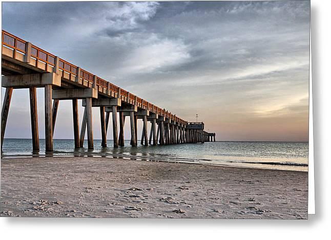 Panama City Beach Greeting Cards - City Pier Greeting Card by Sandy Keeton