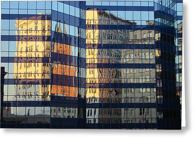Reuss Greeting Cards - City Reflections 2 Greeting Card by Anita Burgermeister