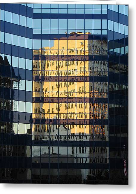 Reuss Greeting Cards - City Reflections 3 Greeting Card by Anita Burgermeister