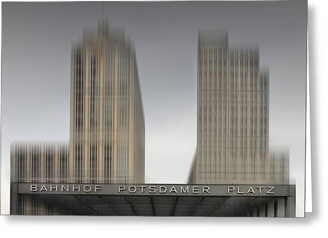 City-shapes Berlin Potsdamer Platz Greeting Card by Melanie Viola