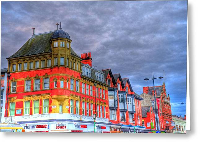 Barry R Jones Jr Digital Art Greeting Cards - City Streets Greeting Card by Barry R Jones Jr