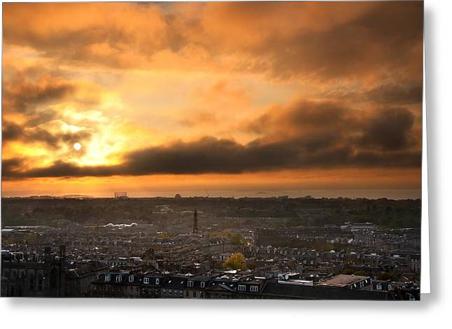 River Scenes Greeting Cards - City Sunset Greeting Card by Svetlana Sewell