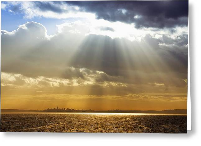 Canon 50d Greeting Cards - City Under the Heavens Greeting Card by Julius Reque