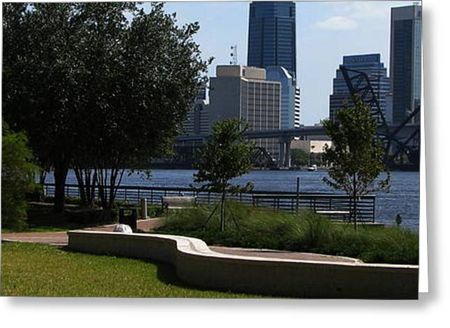 Jacksonville Greeting Cards - City Way Greeting Card by Greg Patzer