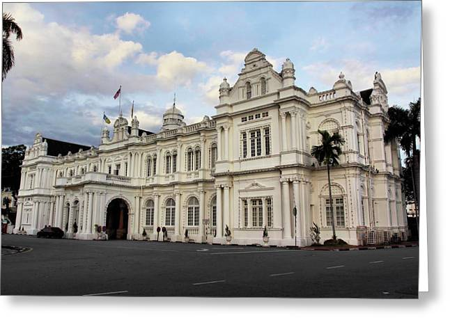 Public Administration Greeting Cards - CityHall-Penang Greeting Card by KH Lee