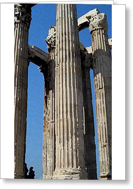 Citymarks Athens Greeting Card by Roberto Alamino