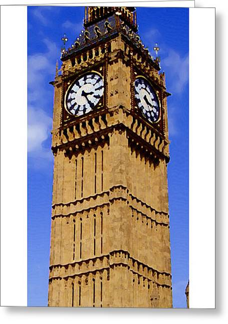 Citymarks London Greeting Card by Roberto Alamino