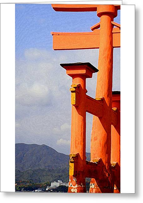 Citymarks Miyajima Greeting Card by Roberto Alamino