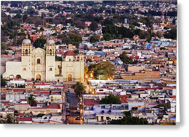 Cityscape Of Oaxaca Greeting Card by Jeremy Woodhouse