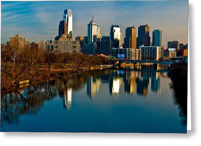 Louis Dallara Greeting Cards - Cityscape of Philadelphia PA Greeting Card by Louis Dallara