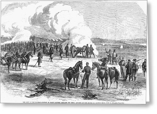 Gaines Greeting Cards - Civil War: 7 Days Battles Greeting Card by Granger