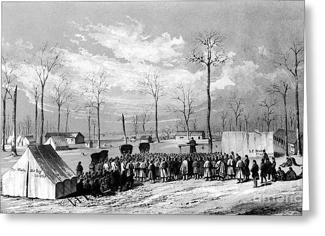 Chaplain Greeting Cards - Civil War: Chaplains, 1861 Greeting Card by Granger