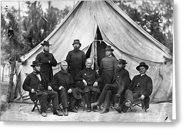 Chaplain Greeting Cards - Civil War: Chaplains, 1864 Greeting Card by Granger