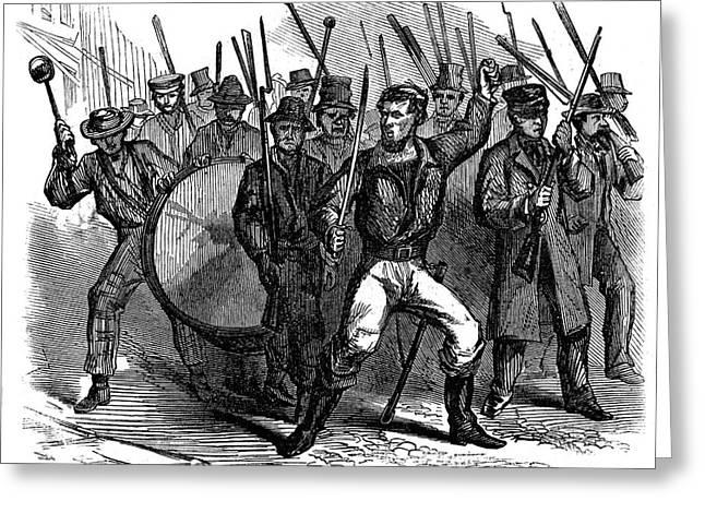 Bayonet Greeting Cards - Civil War: Draft Riots Greeting Card by Granger