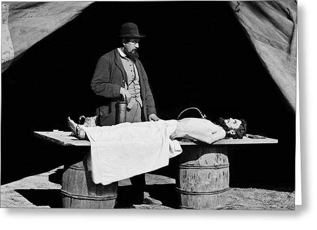 History Of Medicine Greeting Cards - Civil War Embalming Greeting Card by Science Source