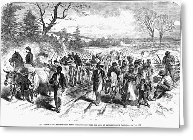 Proclamation Greeting Cards - Civil War: Freedmen, 1863 Greeting Card by Granger
