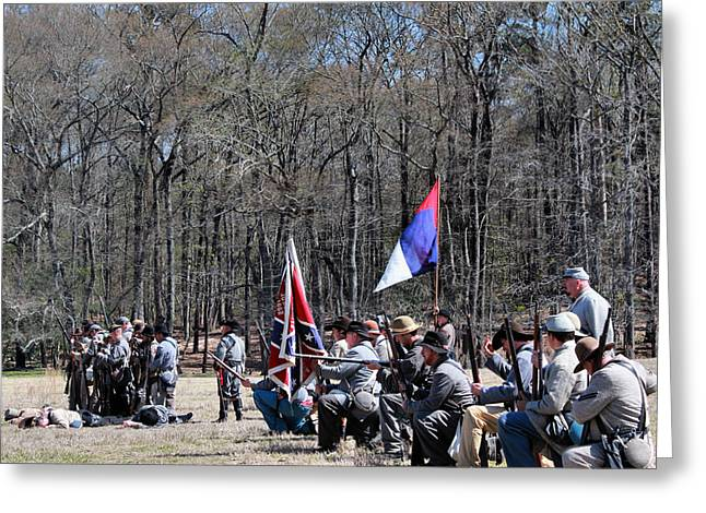 Confederate Flag Greeting Cards - Civil War Front Line 1 Greeting Card by Vickie Glenn