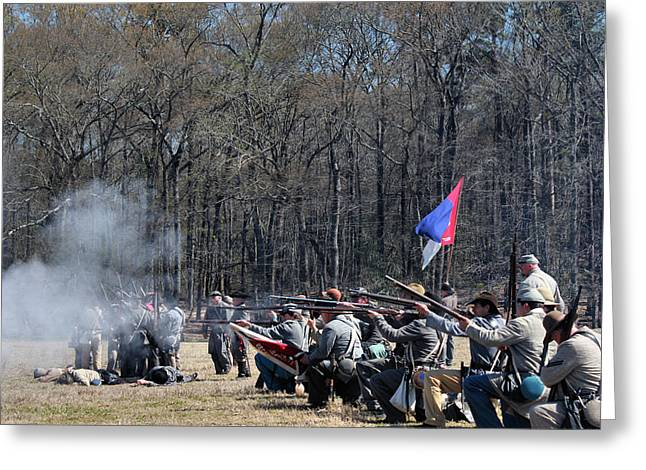 Confederate Flag Greeting Cards - Civil War Frontline 2 Greeting Card by Vickie Glenn