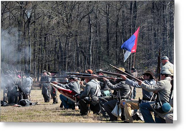 Confederate Flag Greeting Cards - Civil War Frontline 3 Greeting Card by Vickie Glenn