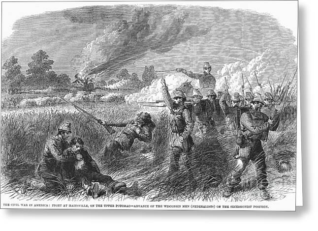Reloading Greeting Cards - Civil War: Hainesville Greeting Card by Granger