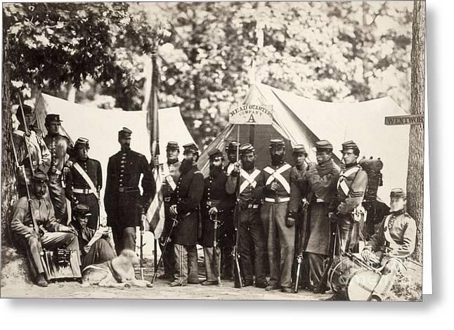 Bayonet Greeting Cards - Civil War: Militia, 1861 Greeting Card by Granger