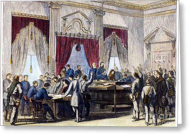 Post-civil War Greeting Cards - Civil War: Paroles, 1865 Greeting Card by Granger